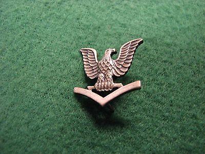 Vintage U.S.Military WW ll Silver Eagle & Wings Pin Vanguard V-21-N  Navy Pin