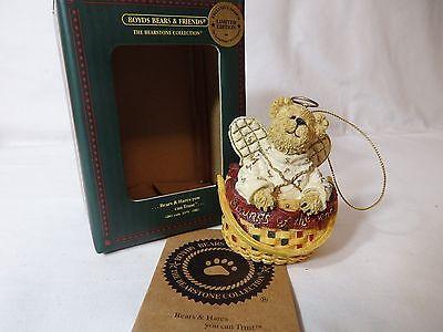 "Longaberger Boyd's Bears Christmas ornament ""Angel Bear"""