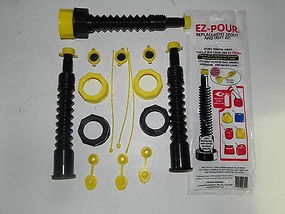 Gas Can Spout Nozzle 3 Kits Blk Fits Most Fuel Cans Gas Diesel Kerosene Water