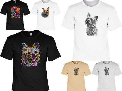 Yorkshire Terrier Motiv T-Shirt - Hunderassen Zeichnung Yokie Motiv Hundeshirt ()