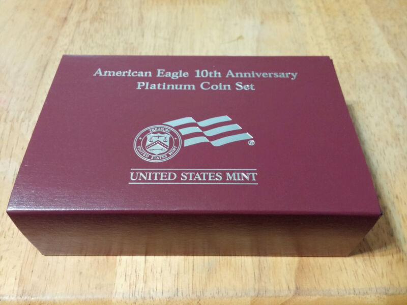 2007 10th Anniversary Platinum American Eagle Coin Set OGP No Coins
