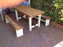 Cypress Pine Rustic Farmhouse Table & Seats - Free Local Delivery Wellington Point Redland Area Preview