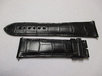 PARMIGIANI Fleurier 23mm x 19mm Black Reptilian Leather Watch Strap 115mm & 75mm
