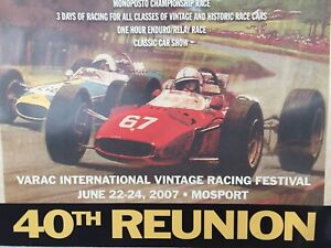 Walter WOLF autograph vintage F1 GP of Canada poster.
