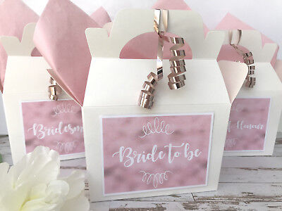 Personalised Wedding Gift Box | Hen Party Favour Box | Bride Tribe | Rose - Gold Gift Box