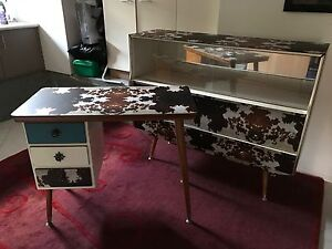 Retro buffet and desk refurbished in cow print Elanora Gold Coast South Preview