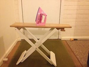 Wooden ironing board with iron Plenty Nillumbik Area Preview