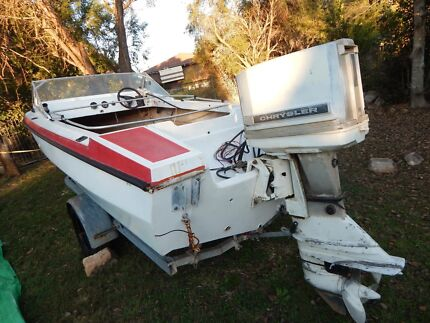 15ft boat with 75hp motor Redbank Plains Ipswich City Preview