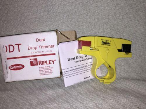 Ripley Cablematic DDT-596Mini Dual Drop Trimmer 596/11 Mini Coax Cable Stripper