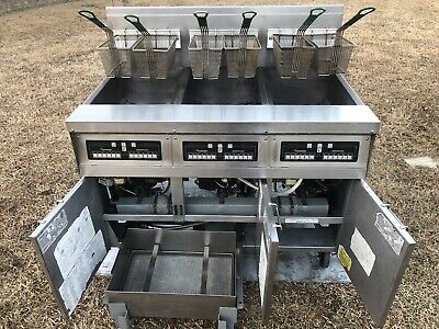 Frymaster Triple Fryer Model Fph350csd Natural Gas Xtra Clean Filtration