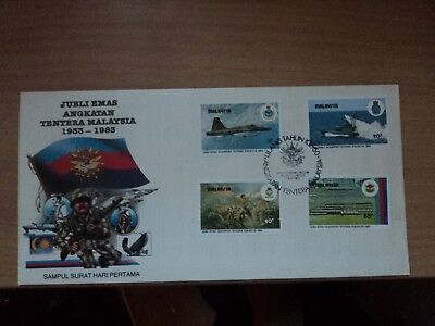 Malaysia 1983 16 Sep FDC 50th Anniv Malaysian Armed Forces Bureau P/m K Lumpur
