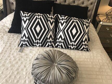 Black Geometric Cushions