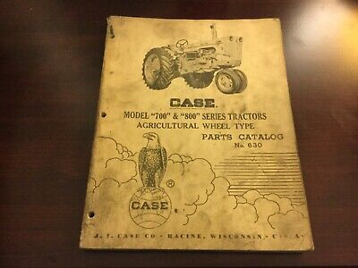 Case Model 700 800 Series Tractor Parts Catalog
