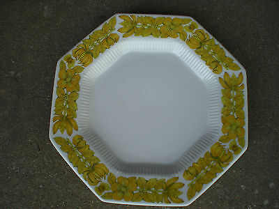 Independence Ironstone YELLOW BOUQUET Octagon Dinner Plate JAPAN