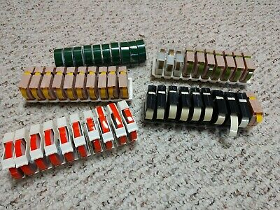 Vintage Dymo Label Maker Tape Lot Of 50 Rolls Multi Color