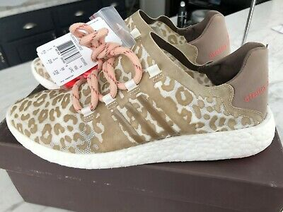 Adidas by Stella McCartney Pure Boost Cat / Leopard Print Running Shoes Sneakers