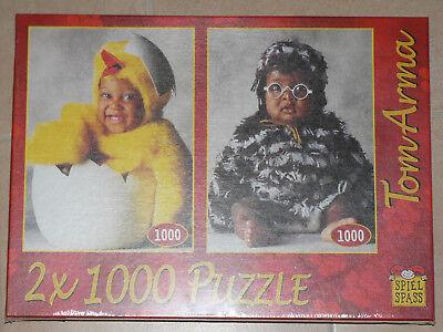 Tom Arma Puzzle 2 x 1000 Teile Motiv Baby im Kostüm Neu OVP eingeschweißt ()