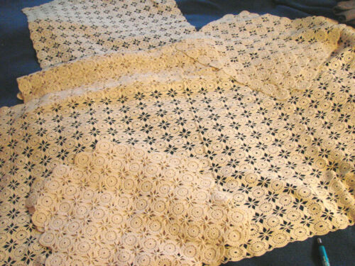 Vintage Crochet Doily Lace MATCHING LOT 5 Table Runner