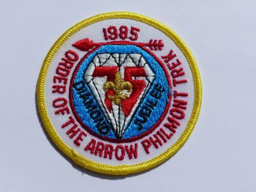Unused 1985 Philmont Trek Order of the Arrow Boy Scout BSA Patch Diam. Jubilee 2