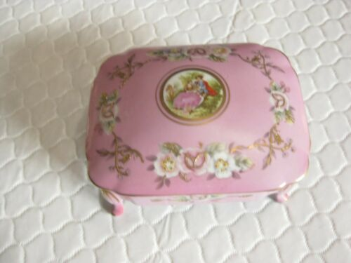 Vintage Original ARNART CREATION Japan Hand Painted Trinket Box Porcelain