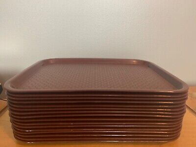 Lot Of 16 Restaurant Food Trays Brown Le Beau Weave Design