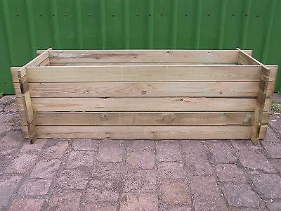 stabiler Holzkomposter Komposter Pflanzbeet Kräuterbeet Hochbeet 170 x 65 x 52