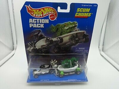 "Hot Wheels Action Pack ""Scum Chums"" w/ Hot Seat & Sudzster - MIP"