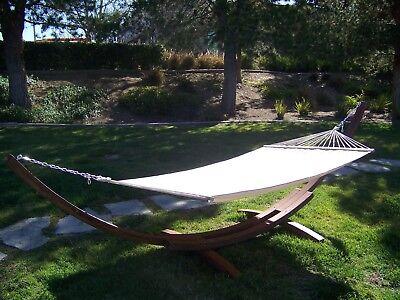 14 brown stain wooden arc hammock stand