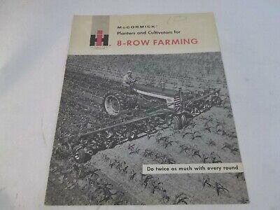Ih Mccormick Planters Cultivators For 8-row Farming Sales Brochure