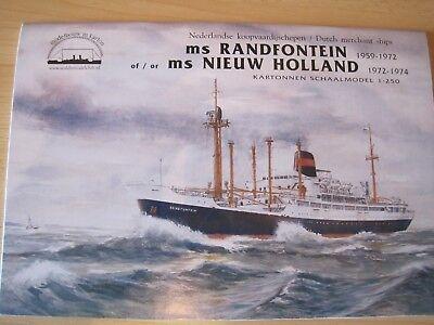 Kreuzfahrtschiff MS Randfonstein 1:250  Kartonbausatz NEU Bastelbogen
