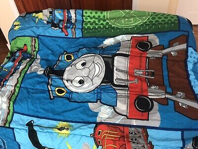 Thomas The Tank Engine Reversible Comforter And Sheets (twin)- GUC