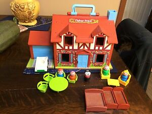 Vintage Fisher Price Little People House in Original Box MINT