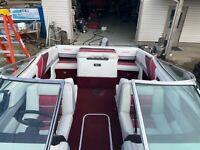 Very nice 20 ft open bow boat V6 Mercruiser motor a