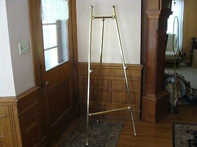 """Gold Metal Easel Art Painting Portrait Drawing Floor Display Wedding Vintage 72"""""""