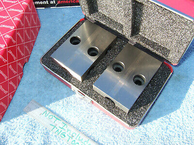 Starrett No706bz Used Pair 1-2-3 Block Case Toolmaker Machinist Loc2a Inspection