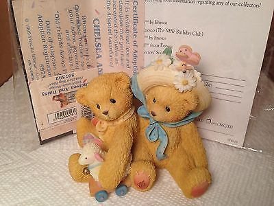 Cherished Teddies Chelsea & Daisy Old Friends Find Way Back Reunion 597392 NIB