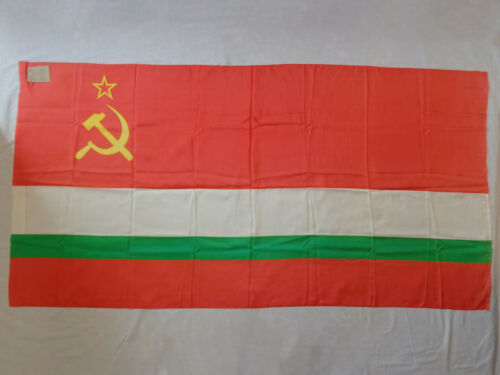 Vtg Flag of the Tajik Soviet Socialist Republic 1987 Dushanbe Tajikistan USSR