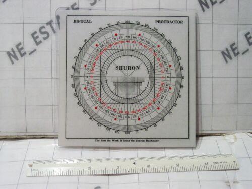 """vintage optician optical collectibles Shuron Bifocal Protractor & AO ~7"""" RULER"""
