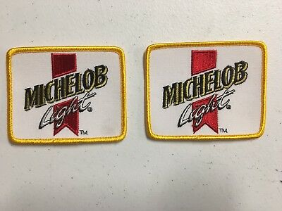 "Lot Of 2 Michelob Light Anheuser-Busch LogoBeer Patches Budweiser Bud 3"" X 3.75"""