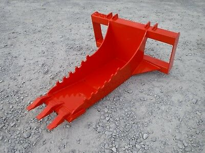 Kubota Skid Steer Attachment Stump Bucket Extreme Duty Dig Spade - Ship For 199