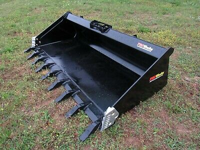 Pro Works 80 Hd Low Profile Skid Steer Track Loader Tooth Bucket - Ship 199