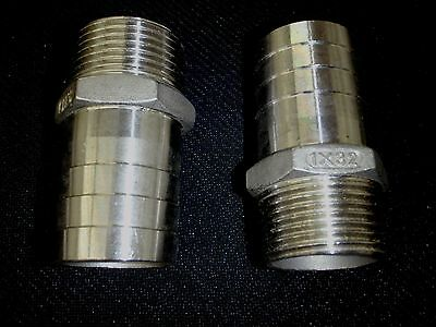 Hb100125 Stainless Steel Hose Barb 1 Npt Pipe - 1 14 Hose