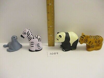 Fisher Price Little People Zoo Animal Lot - Panda Zebra Tiger and Seal