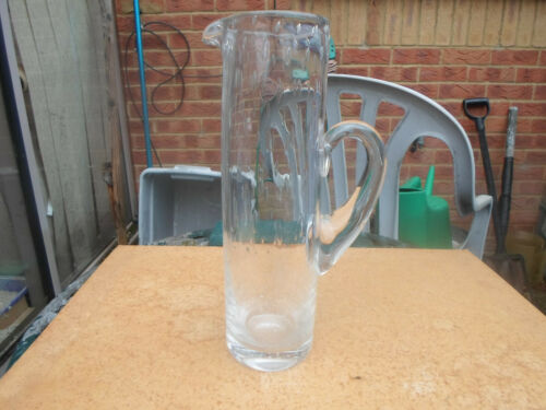 Vintage Whitefriars Glass Clear Controlled  Bubble Tall Jug