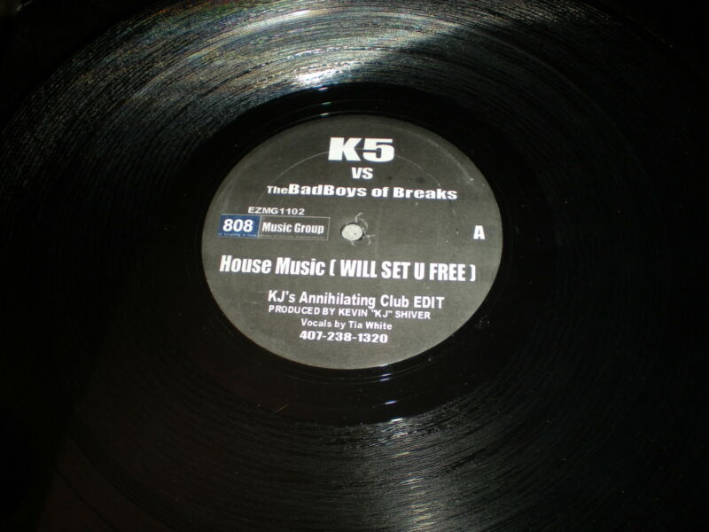 K5 Vs The Bad Boys of Breaks VINYL House Music Will Set U Free DJ Sandy KJ mixes