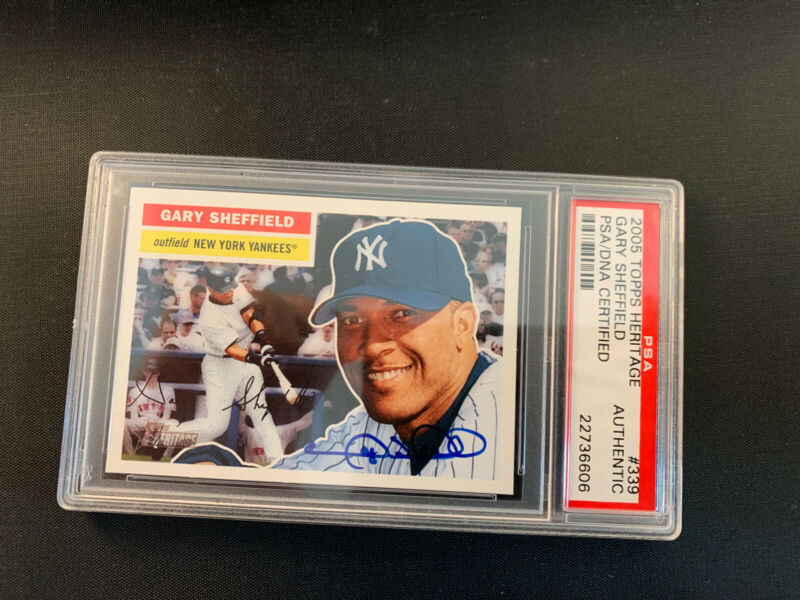 Gary Sheffield 2005 Topps Heritage #339 PSA DNA Encapsulated Signed Card Auto