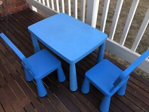 Ikea children chairs and table