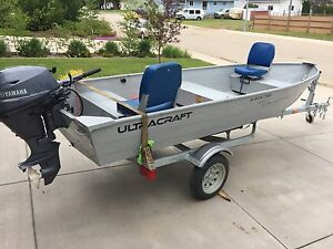 2015 Ultracraft 14', 15 hp Yamaha, Karavan trailer