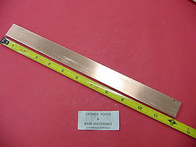 "1//8/""x 1/"" C110 COPPER BAR 12/"" long Solid Flat Mill Bus Bar Stock H02 .125 x 1.00"
