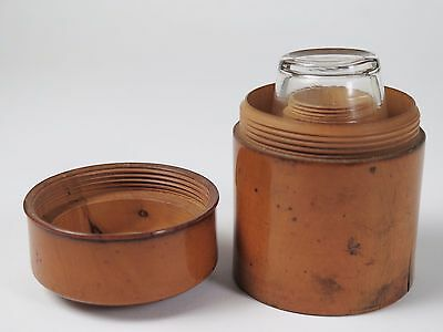 Boxwood medicine glass container